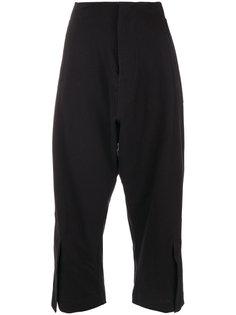 укороченные брюки с присборенным поясом  Y-3