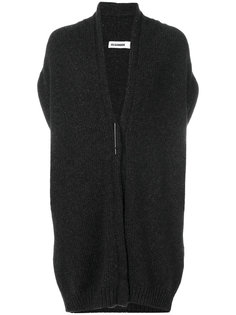 вязаное пальто-кардиган без рукавов Jil Sander