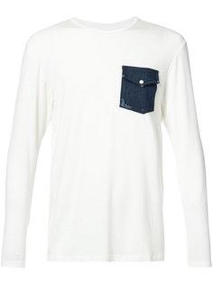 футболка с джинсовым карманом United Rivers