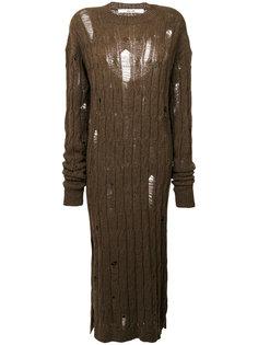 вязаное платье с косами с эффектом потертости Damir Doma