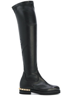 ботинки на каблуке с заклепками Baldinini