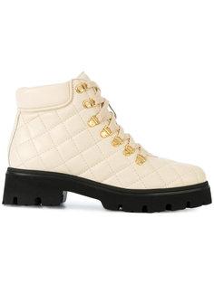 стеганые ботинки на шнуровке Baldinini