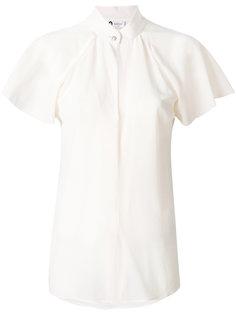 блузка с рукавами с оборками Lanvin
