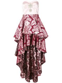 ассиметричное платье с рюшами Christian Pellizzari