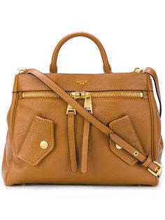 сумка на плечо с тисненым логотипом Moschino