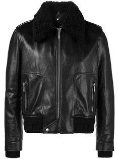 куртка с воротником из овчины Saint Laurent
