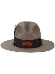 фетровая шляпа с контрастной лентой Nick Fouquet