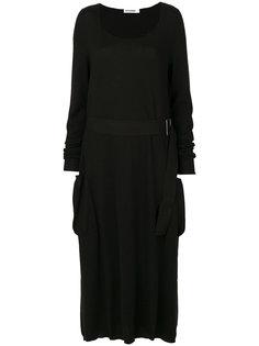 расклешенное платье миди Jil Sander