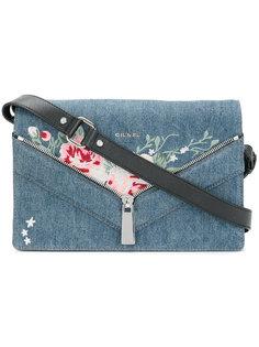джинсовая сумка с цветочной вышивкой  Diesel