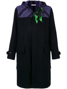 пальто с контрастными вставками JW Anderson
