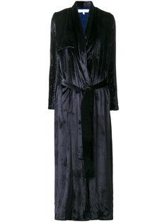 бархатное пальто-тренч  Galvan