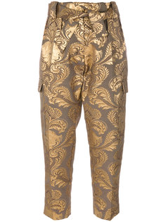 жаккардовые брюки металлик  Christian Pellizzari