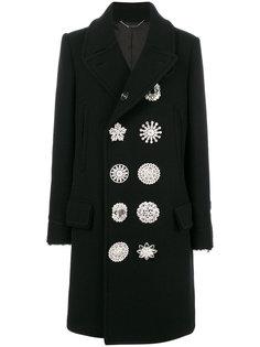 двубортное декорированное пальто Givenchy
