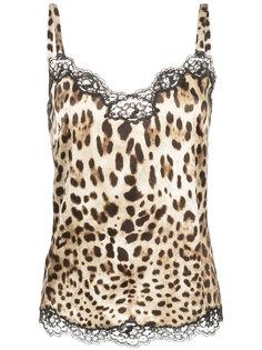 топ с кружевной оторочкой Dolce & Gabbana Underwear