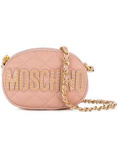 маленькая стеганая сумка на плечо  Moschino