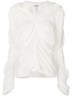 рубашка-туника с драпировкой  Loewe