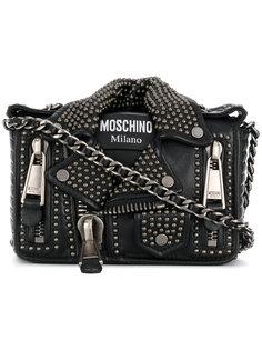 сумка в виде байкерской куртки с заклепками Moschino