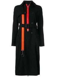 пальто-тренч с контрастными молниями Givenchy