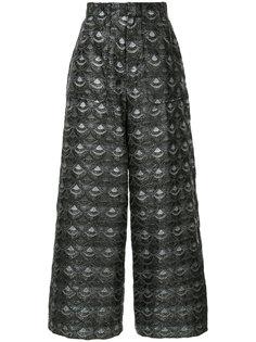 брюки-палаццо с жаккардовым узором G.V.G.V.