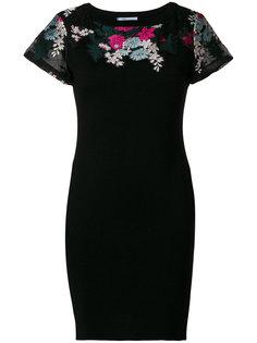 платье с цветочной вышивкой Blumarine