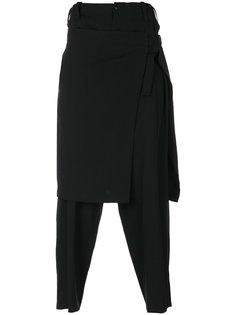 брюки с декоративной юбкой Yohji Yamamoto