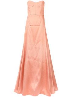 панельное расклешенное платье Rochas