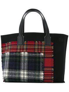 сумка-тоут T Shopper в шотландскую клетку Loewe
