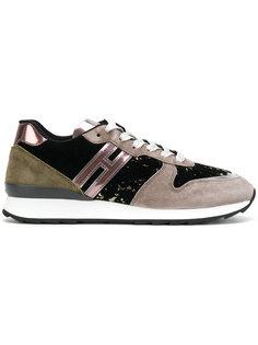 Женские кроссовки с панельным дизайном Hogan