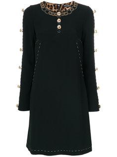 платье А-образного силуэта на пуговицах Dolce & Gabbana