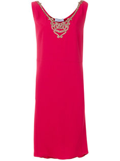 платье без рукавов  Prada