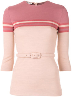 вязаный свитер с ремнем Miu Miu