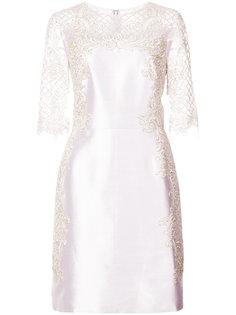 платье с металлическим отблеском Marchesa