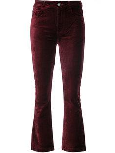 бархатные укороченные брюки Paige
