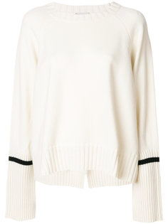 свитер с полосками на рукавах  Moncler