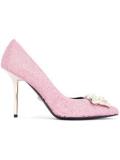 туфли Medusa с отделкой стразами Versace