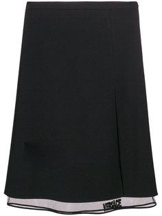 многослойная юбка-миди Versace