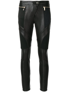 кожаные байкерские брюки Versace