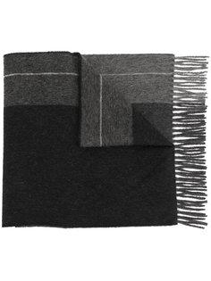 "шарф с бахромой дизайна ""колор-блок"" Pringle Of Scotland"