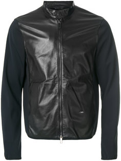куртка на молнии с контрастными рукавами Emporio Armani
