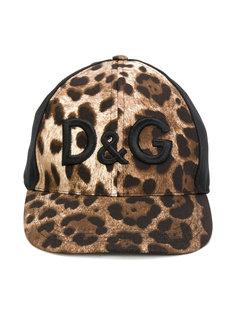 кепка с анималистичным принтом с логотипом Dolce & Gabbana