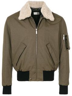 куртка-бомбер с воротником из овчины Saint Laurent