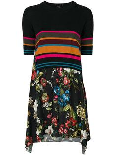 платье с контрастными полосками и цветочным узором  IM Isola Marras