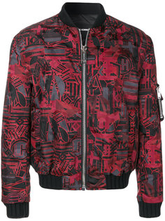 куртка-бомбер  с графическим узором Les Hommes