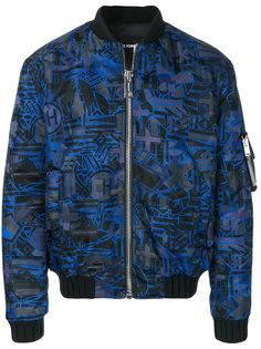 куртка-бомбер  с абстрактным узором Les Hommes