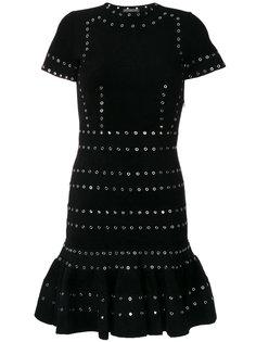 платье с отделкой люверсами  Alexander McQueen