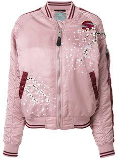 куртка-бомбер с цветущей сакурой Alpha Industries