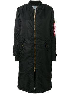 длинная куртка бомбер Alpha Industries