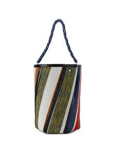 полосатая сумка с кожаной оторочкой Hex Proenza Schouler