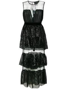 платье из тюля с пайетками  Christian Pellizzari