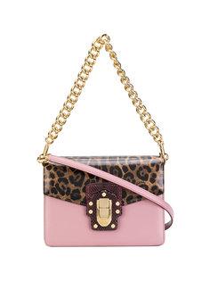 сумка на плечо с леопардовым принтом Lucia Dolce & Gabbana
